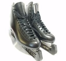 Riedell Black Ice Skates - Leather Boots in Euc - Mk 21 blades - Size 8
