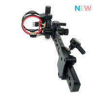 """Black Archery Compound Bow Sight Micro Adjustable 5 Pin .019"""" Long Pole Shooting"""