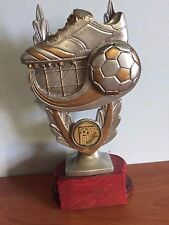 SOCCER (#3) FOOTBALL RESIN TROPHY AWARD  185mm HIGH Special Sale 183 only