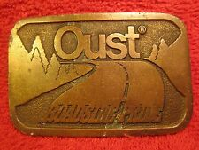 Brass Belt Buckle OUST ROADSIDE PRIDE 1982 by Hit Line [Z22]