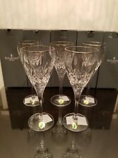 MSRP:$75 Waterford Crystal Lismore Nouveau Platinum White Wine Goblet glass -NEW