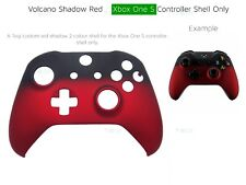 New Xbox One S Red Velvet Soft microsoft Controller Front Volcano Shadow Shell