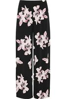 New Plus Size Ladies Womens Floral Print Wide Leg Summer Palazzo Pants Trousers