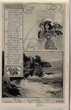 Calendario Mese Marzo 1904 PC Belle Epoque Fotomontaggio Segni Zodiacali