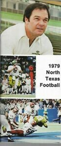 1979  U. of NORTH TEXAS MEAN GREEN FOOTBALL media guide, Mark Witte, Near Mint