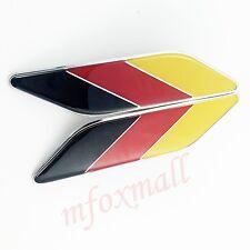 2X Car Door Fender Trim 3D Decal Sticker Germany Deutschland DE Flag Logo Emblem
