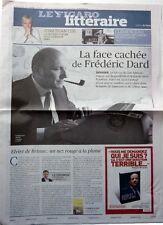 FREDERIC DARD => COUPURE DE PRESSE 2 PAGES le Figaro 2014