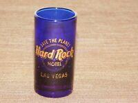 "VINTAGE CASINO 3"" HIGH HARD ROCK HOTEL LAS VEGAS SAVE THE PLANET SHOT GLASS"