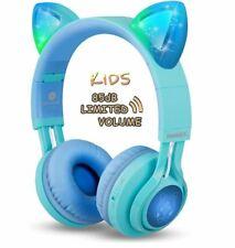 Kids Headphones, Riwbox Cat Ear Bluetooth Headphones Volume Limiting Brand New