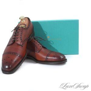 NIB #1 MENSWEAR Edward Green England Monmouth Country 888 Rosewood Shoes 9.5 10
