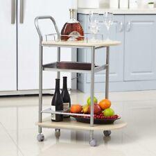 946c61ee411587 Carrello da Cucina con Ruote Legno e Metallo Trolley da Portata Servizio  Bevande