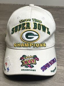 NWOT Reebok NFL Green Bay Packers 3-Time Super Bowl XXXI Champs Adjustable Hat