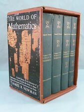 The World of Mathematics by Newman 4 volumes Hardcover Set Slipcase Vintage 1956