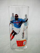 * COCA COLA® VERRE FOOTBALL MC DO 1998 13.5 cm x 6.2 cm Ø JOUEURS N° 7 - 8 - 15