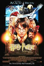 "Harry Potter and the Sorcerer's Stone Silk Fabric Movie Poster  15.7""x24"""