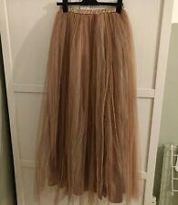 BNWT True Decadence 10 12 Nude Rose Gold Tulle Net Maxi Wedding Ball Gown Skirt