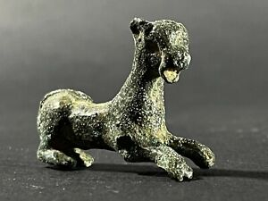 EUROPEAN FINDS ANCIENT ROMAN BRONZE IMPERIAL PANTHER FIGURINE CA 300AD