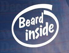 BEARD INSIDE Funny Novelty Car/Van/Truck/Window/Bumper Vinyl Sticker/Decal