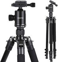 HEOYSN Camera Tripod, 160cm Lightweight DSLR Tripod Aluminum Alloy with Quick Re