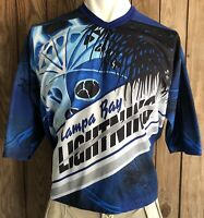 Tampa Bay Lightning Men's Large XL Hockey Jersey CCM Air Knit Maska NHL Goalie