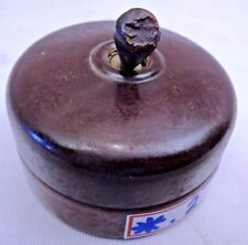 ELECTRIC SWITCH BAKELITE VITREOUS GERMANY VINTAGE ELECTRICAL COLLECTIBLEES RARE