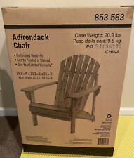 2 Wood Chair Outdoor Adirondack Durable Fir Wood Lounge Lawn Furniture Unfinish
