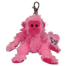 Ty Beanie Babies 40332 Julep the Pink Monkey Pinkys Key Clip