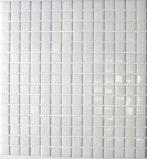 Mosaik weiss/weiß mit Spots Glasmosaik Fliese Bad Dusche Art:50-0101 1 qm