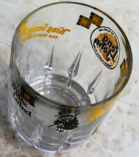 Large Whisky Clear Glass with Black and Yellow Brands White label Ballantines 4""