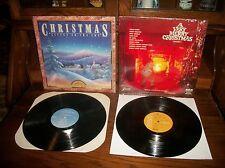 Very Merry Christmas-Listen To Joy-Placido Domingo-Grants-Record Album LP Lot