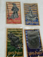 Harry Potter Scholastic Collectible Metal Bookmarks - Vintage - Full Set of 4