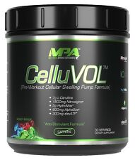 MPA CelluVol. Finest Quality Pre-Workout. Bodybuilding Muscle Builder (Vasoburn)