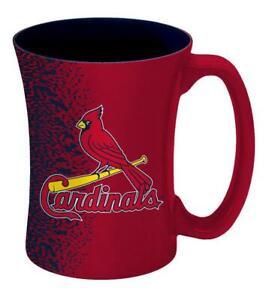 St Louis Cardinals 14oz Mocha Design Coffee Mug [NEW] MLB Tea Cup Glass Travel