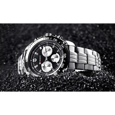 Curren Luxury Lifestyle Silver & Black Sports Watch for Men! (Wristwatch)