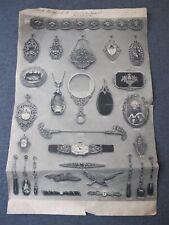 Antique Albert Kopp Pforzheim Germnay art deco jewelry original catalog sheet