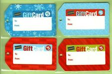 BLOCKBUSTER Set of ( 4 ) Holiday Gift Tag 2004 Gift Cards ( $0 ) NO VALUE