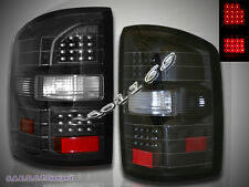 14-15 GMC SIERRA L.E.D TAIL LIGHTS BLACK REAR BRAKE LAMPS NEW