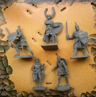 Crusaders#2.Soft plastic,rubber soldiers.Infantry 5pcs 56-60mm