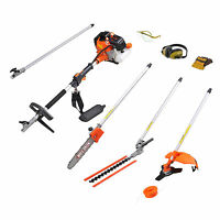 Wolf Creek 58cc 5in1 Petrol Strimmer Brush Cutter Hedge Trimmer Pruner Chainsaw