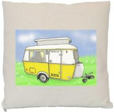 Vintage Caravan - Natural (Cream) Cushion Cover - INSERT NOT INCLUDED Yellow