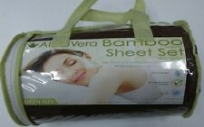 Aloe Vera Bamboo Sheet Set Queen Size 1800 Series Wrinkle Free Eco Color-Brown