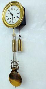 Alte Wanduhr Kleine Comtoie  Miniatur Pendeluhr *mit Lyra Pendel*