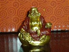 statua BUDDHA ORO IN ELEGANTE BOX SACCHETTO IDEA REGALO ORIENTE arte nipponica