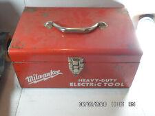 Milwaukee Screw Gun Model 6543-1 with extra bits in original metal carry case