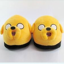 ADVENTURE TIME JAKE PLUSH Embroidered 3D FACE SLIPPERS SHOES *NEW* RARE SALE!