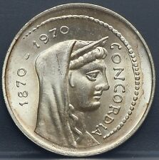 Italie - 1000 lire 1970  Centennial of Rome as Italian capital - silver - nice!