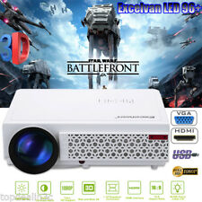 Full HD 1080P 5000Lumen LED 3D Beamer Projektor Projector HDMI*2/USB*2/VGA/TV EU