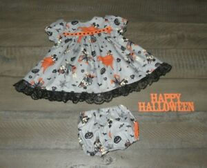 """Handmade Doll Clothes for 18"""" - 20"""" Baby Dolls - """"Count Mickey"""" Gray Dress Set"""