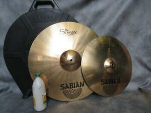 "TWO SABIAN PRO SONIX CYMBALS WITH SABIAN CASE 20""/51cm RIDE & 16""/41cm CRASH"