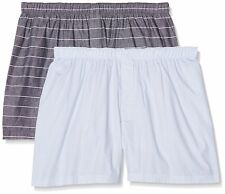 New Look Men's Stripe Woven Boxer Shorts Pack Of 2 Small New